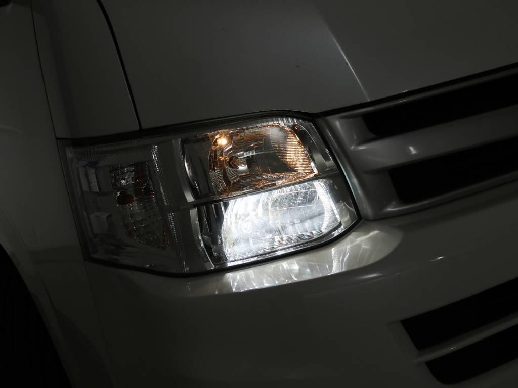 純正HIDヘッドライト♪ | トヨタ ハイエースコミューター 3.0 GL ディーゼルターボ FLEXデモカー