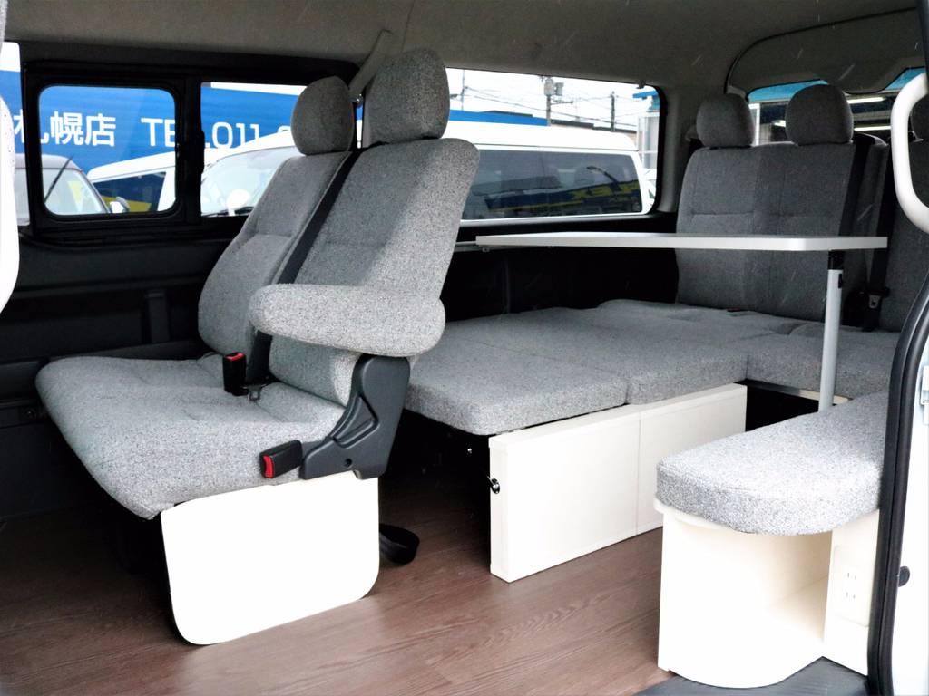 ベッドマットの取り外しは誰にでも簡単で出来ますよ!   トヨタ ハイエース 2.7 GL ロング ミドルルーフ 4WD ROOMCAR02