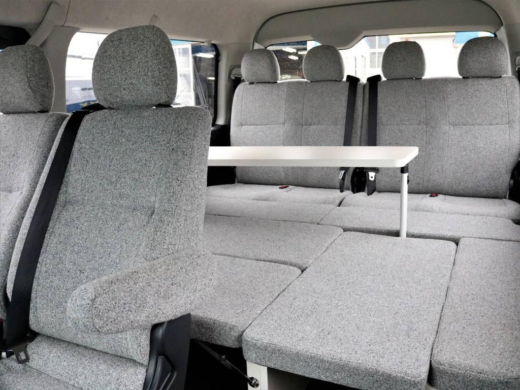 ベッドマットを全部付けた状態です。   トヨタ ハイエース 2.7 GL ロング ミドルルーフ 4WD ROOMCAR02