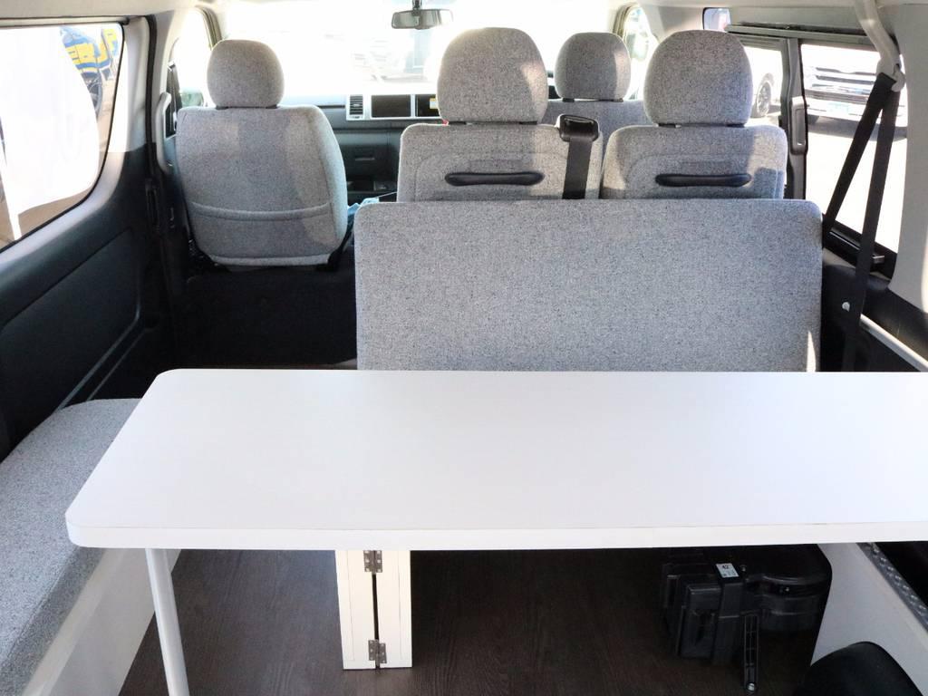 大型テーブルも完備です!   トヨタ ハイエース 2.7 GL ロング ミドルルーフ 4WD ROOMCAR02