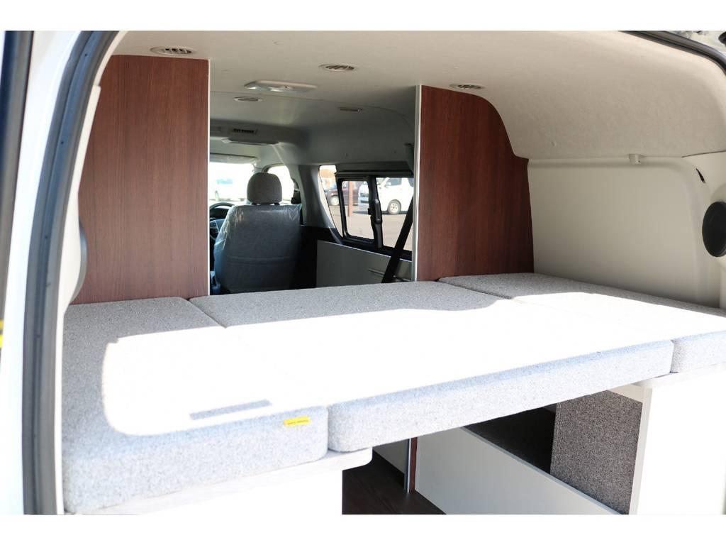 パーテーションの後ろはロフトベッドしてお使い頂けます♪ | トヨタ ハイエース 2.7 GL ロング ミドルルーフ 4WD ROOM CAR01
