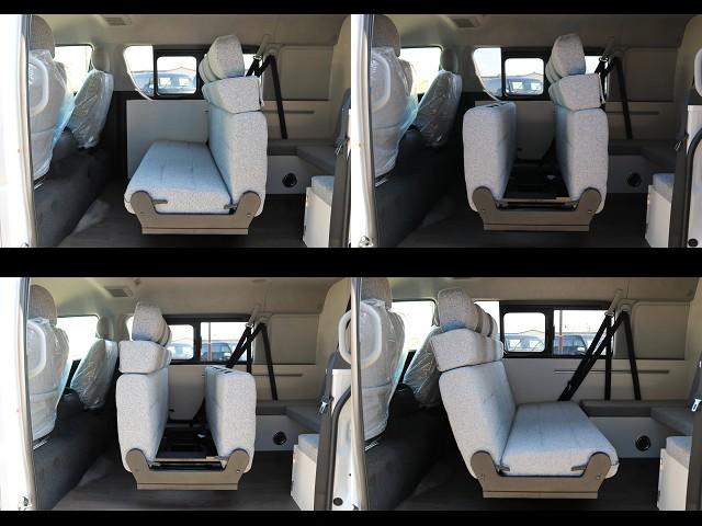 多彩なレイアウトが可能なセカンドシート♪ | トヨタ ハイエース 2.7 GL ロング ミドルルーフ 4WD ROOM CAR01