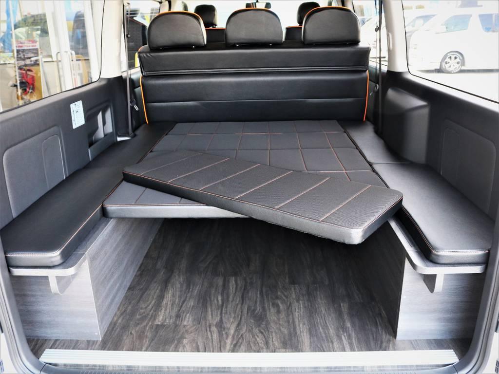 ベッドマットは取り外し可能です! | トヨタ ハイエースバン 3.0 スーパーGL ロング ディーゼルターボ 4WD VER8