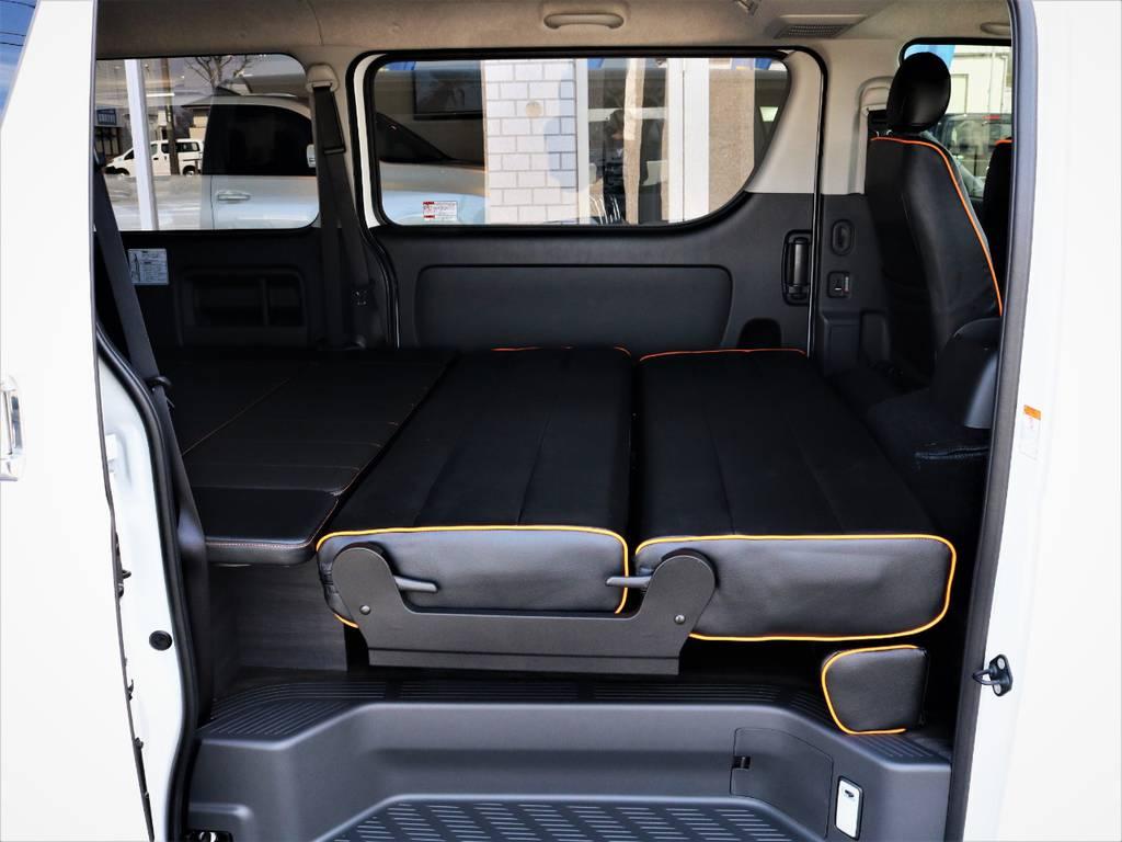 オールフルフラットの状態! | トヨタ ハイエースバン 3.0 スーパーGL ロング ディーゼルターボ 4WD VER8