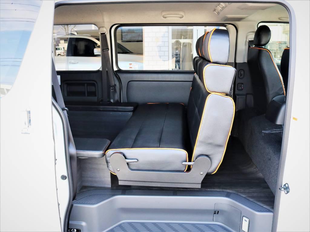 セカンドシートは対面可能です! | トヨタ ハイエースバン 3.0 スーパーGL ロング ディーゼルターボ 4WD VER8