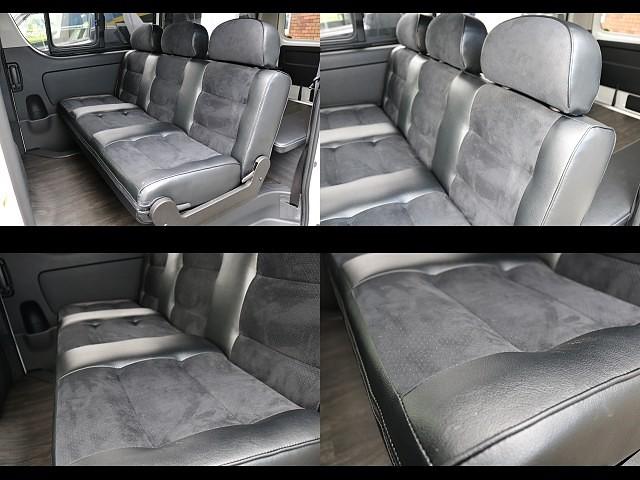 座り心地もGOOD! | トヨタ ハイエースバン 3.0 スーパーGL ダークプライム ロングボディ ディーゼルターボ 4WD Ver8 小窓付