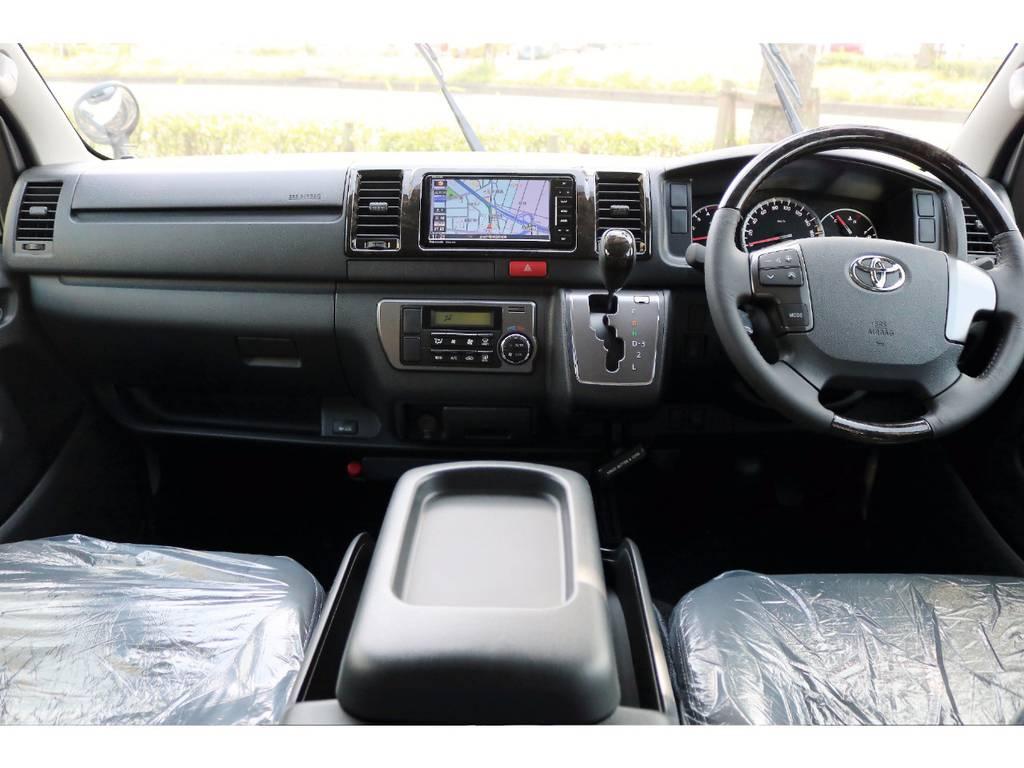 ダークプライム特別仕様の豪華な内装♪ | トヨタ ハイエースバン 3.0 スーパーGL ダークプライム ロングボディ ディーゼルターボ 4WD Ver8 小窓付
