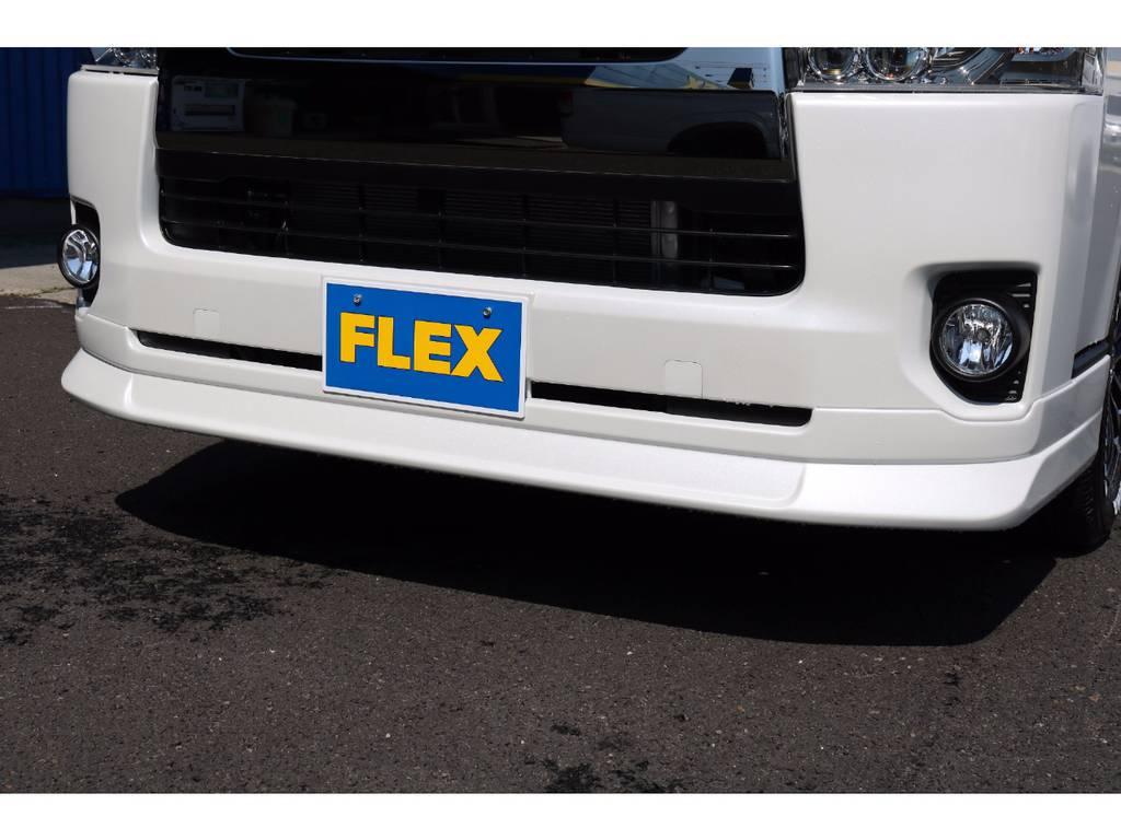 当社オリジナルDelfino Lineリップスポイラー装備♪ | トヨタ ハイエースバン 3.0 スーパーGL ダークプライム ロングボディ ディーゼルターボ 4WD Ver8 小窓付