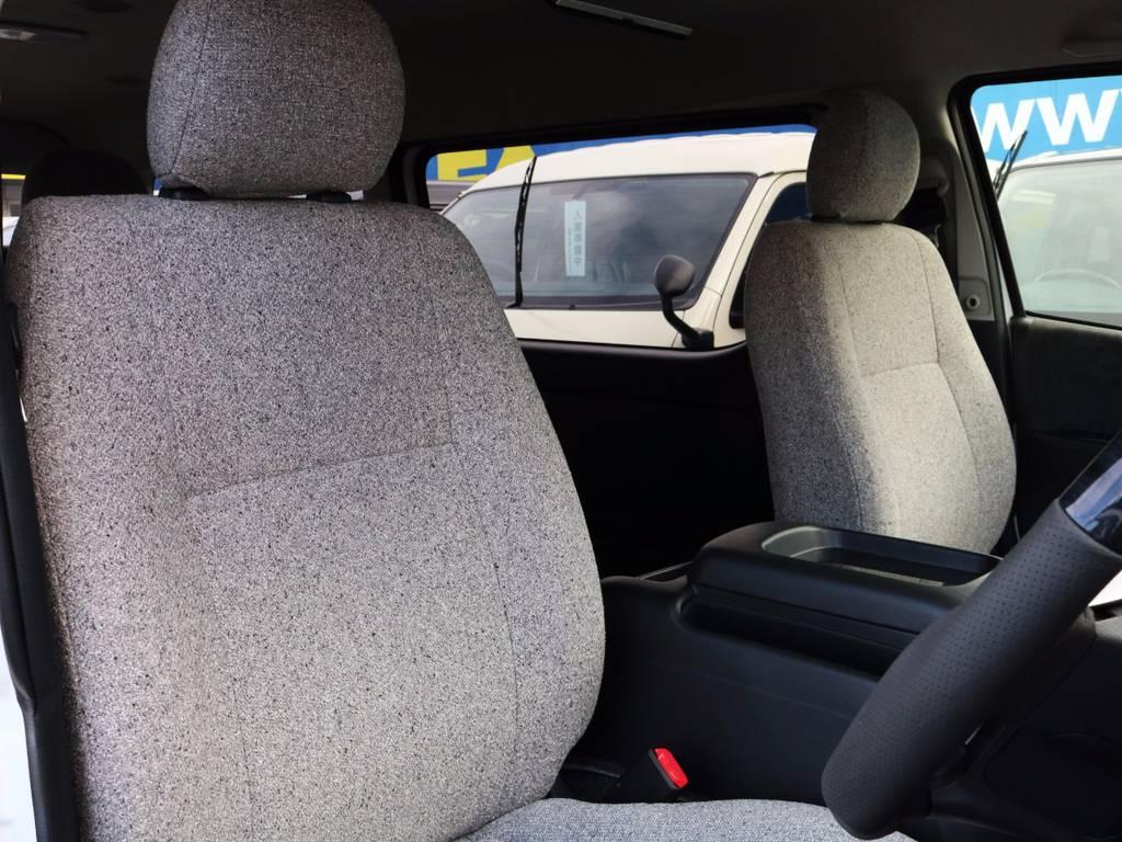 運転席シート、オシャレな感じにシート生地張替え!