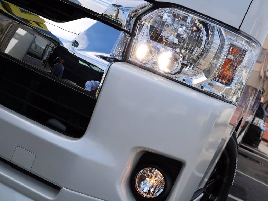 メーカーオプション「LEDヘッドライト」!夜間走行も安心です!