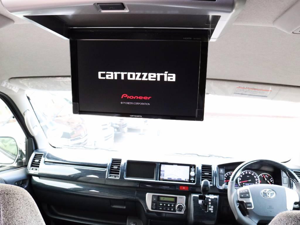 カロッツェリア製フリップダウンモニター! | トヨタ ハイエース 2.7 GL ロング ミドルルーフ 4WD ROOM CAR 02