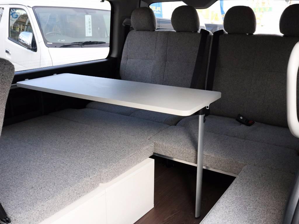 ベッドマットは取り外し可能なので、お好きなアレンジが可能です! | トヨタ ハイエース 2.7 GL ロング ミドルルーフ 4WD ROOM CAR 02