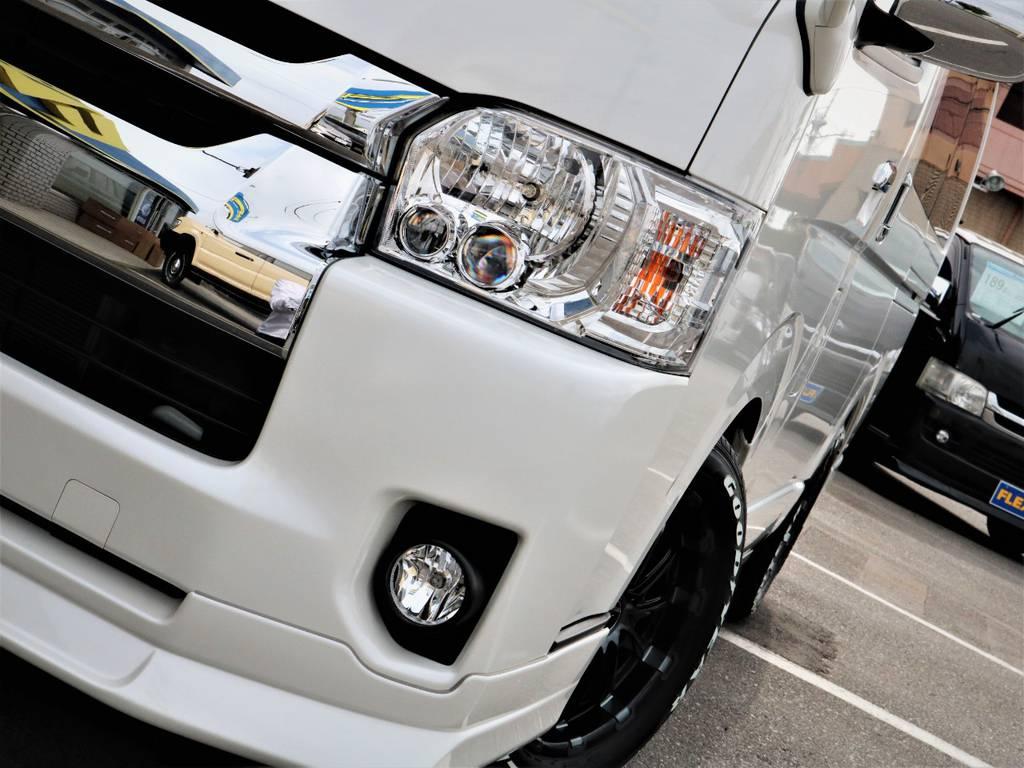 メーカーオプション「LEDヘッドライト」!夜間走行も安心です! | トヨタ ハイエース 2.7 GL ロング ミドルルーフ 4WD ROOM CAR 02