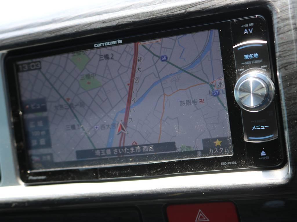 フルセグSDナビは走行中視聴やBluetooth接続など便利な機能盛りだくさん♪ | トヨタ ハイエース 2.7 GL ロング ミドルルーフ アレンジST さいたま中央店特選車