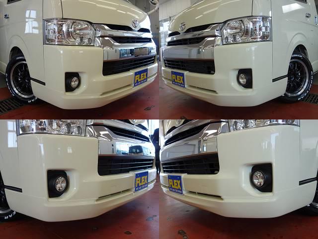 415コブラクリーンルックフロントスポイラー装着済み!! | トヨタ ハイエース 2.7 GL ロング ミドルルーフ 4WD