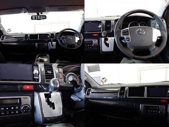 黒木目インテリアパネルKIT、コンビハンドル、ノブ変更済み!! | トヨタ ハイエース 2.7 GL ロング ミドルルーフ 4WD