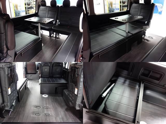 後ろ向き2名乗車、専用床張り済み!! | トヨタ ハイエース 2.7 GL ロング ミドルルーフ 4WD