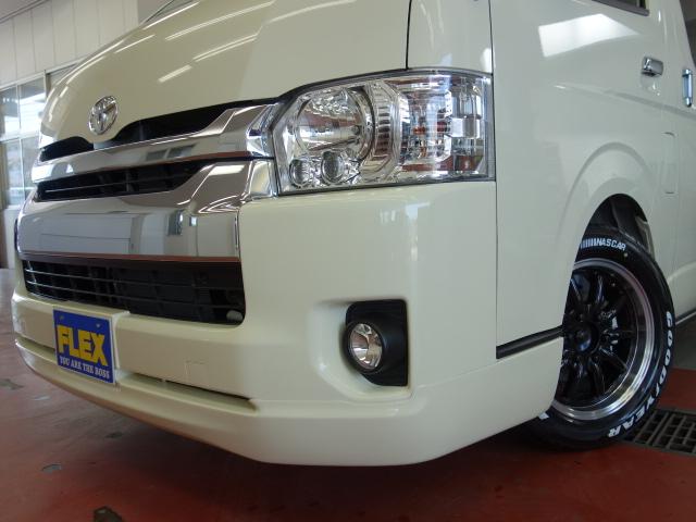 フロントスポイラー装着済み!! | トヨタ ハイエース 2.7 GL ロング ミドルルーフ 4WD