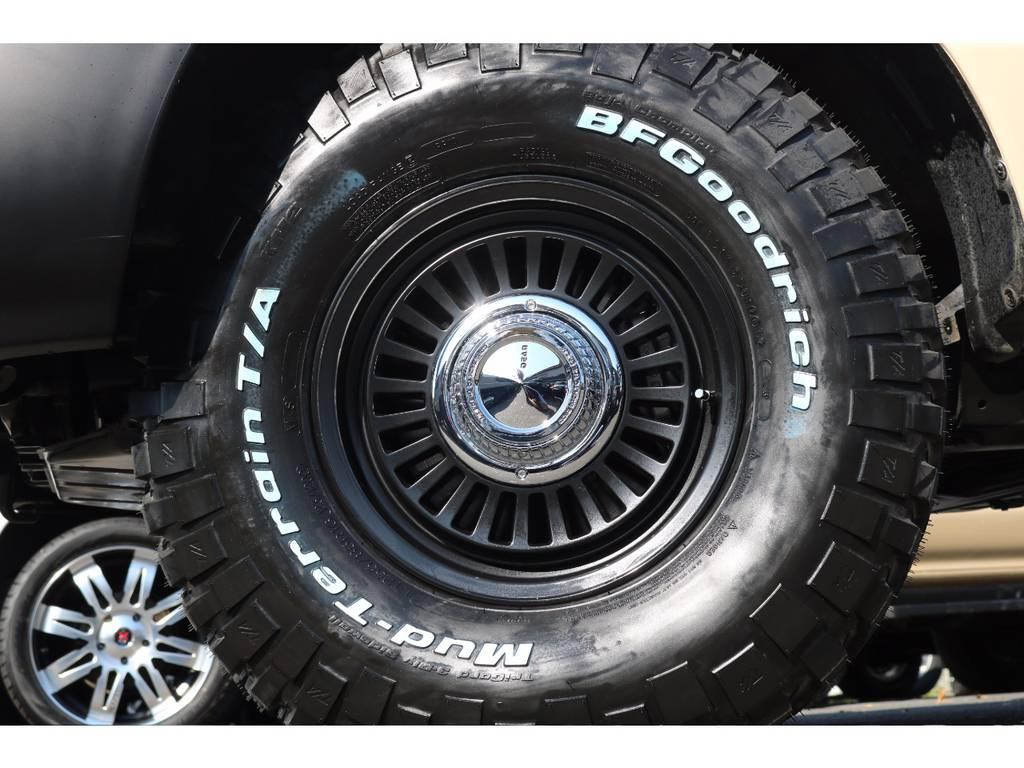 DEANカリフォルニア16インチAWとBFグッドリッジMTタイヤを新品でインストール!クラシカルな印象でかつ、ホワイトレターがインパクトがあります! | トヨタ ランドクルーザー100 4.7 VXリミテッド 4WD