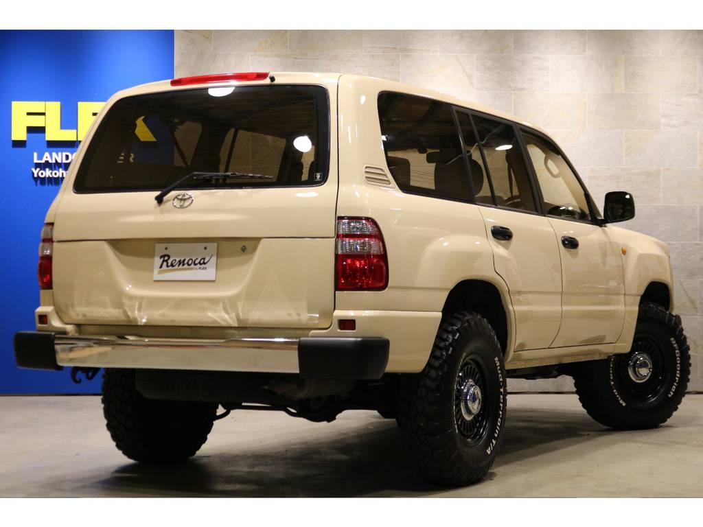 専用ボディーキット!前後メッキバンパー!新品DEANカリフォルニア16インチAW&BFG255MTタイヤ! | トヨタ ランドクルーザー100 4.7 VXリミテッド 4WD