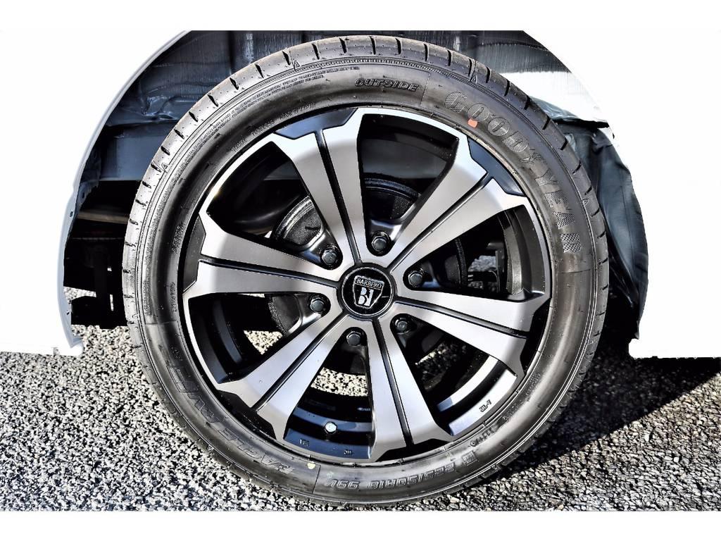 新作バルベロ アーバングランデ 18インチです!FLEXオリジナルカラーのマットブラックをチョイス! | トヨタ ハイエースバン 2.0 スーパーGL ロング ver.4 STD