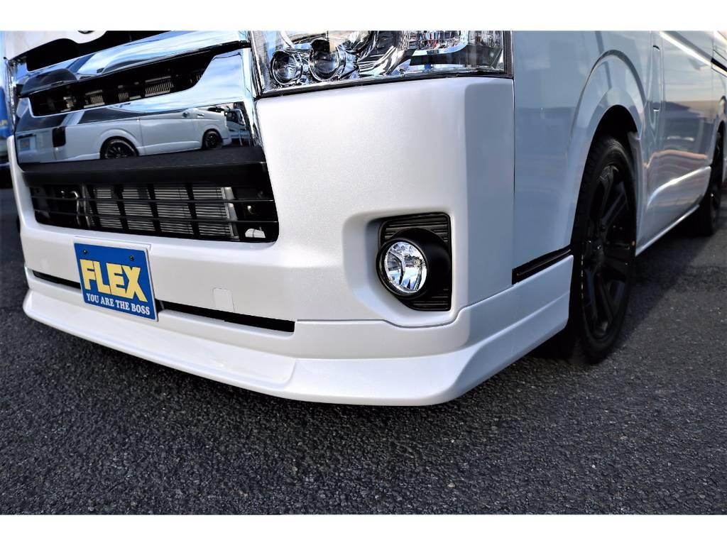 FLEXオリジナルフロントリップスポイラー Delfino Line 装着済みです! | トヨタ ハイエースバン 2.0 スーパーGL ロング ver.4 STD