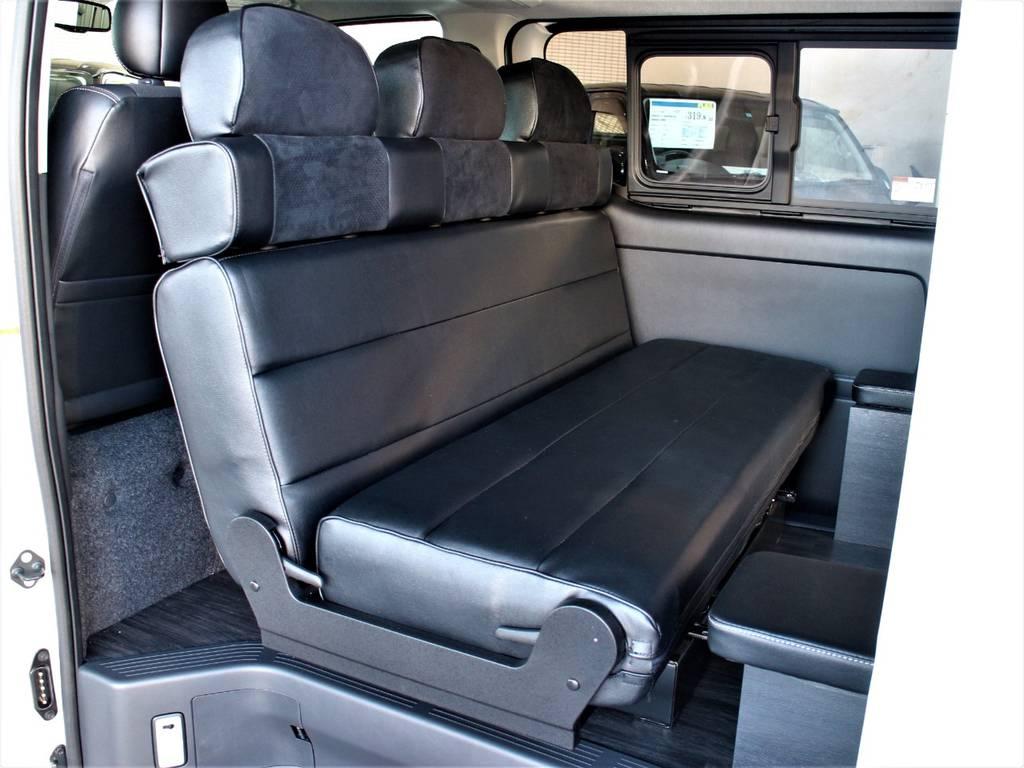 対面にもできます♪ | トヨタ ハイエースバン 3.0 スーパーGL ダークプライム ロングボディ ディーゼルターボ 4WD バージョン8内装架装