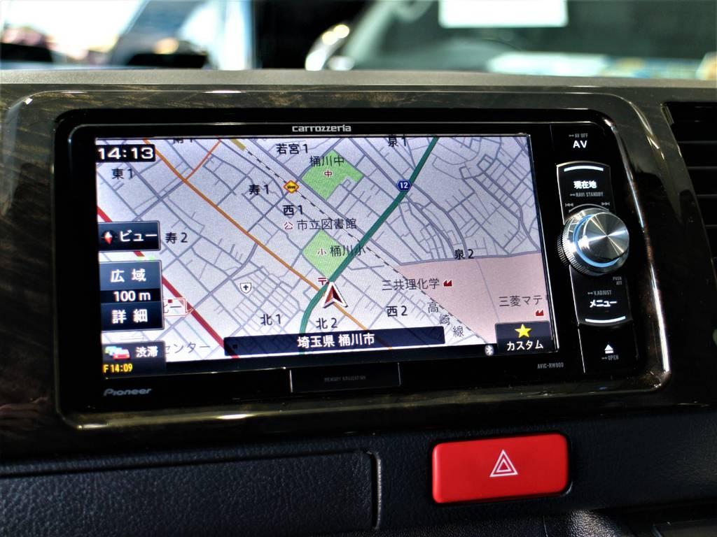カロッツェリアSDナビ! | トヨタ ハイエースバン 3.0 スーパーGL ダークプライム ロングボディ ディーゼルターボ 4WD バージョン8内装架装