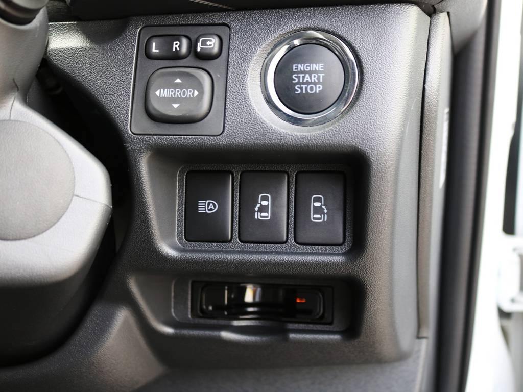 プッシュスタートシステム標準装備!メーカーオプション両側パワースライドドア付き♪ | トヨタ ハイエースバン 2.0 スーパーGL ロング ダークプライムアレンジFU-Nスライド