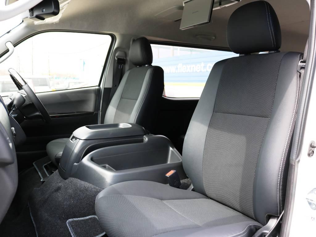 ダークプライム専用装備 ハーフレザーシート♪   トヨタ ハイエースバン 2.7 スーパーGL ワイド ロング ミドルルーフ 4WD ダークプライム アレンジVer8