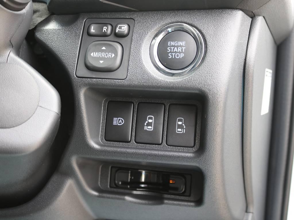 メーカーオプション プッシュスタートシステム&パワースライドドア!   トヨタ ハイエースバン 2.7 スーパーGL ワイド ロング ミドルルーフ 4WD ダークプライム アレンジVer8
