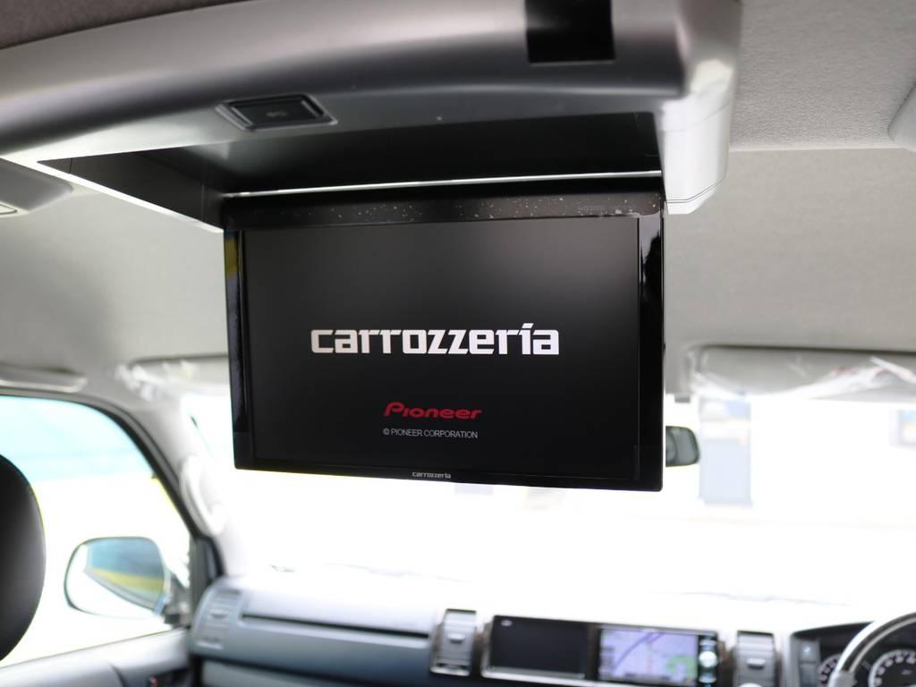 カロッツェリア フリップダウンモニター!   トヨタ ハイエースバン 2.7 スーパーGL ワイド ロング ミドルルーフ 4WD ダークプライム アレンジVer8