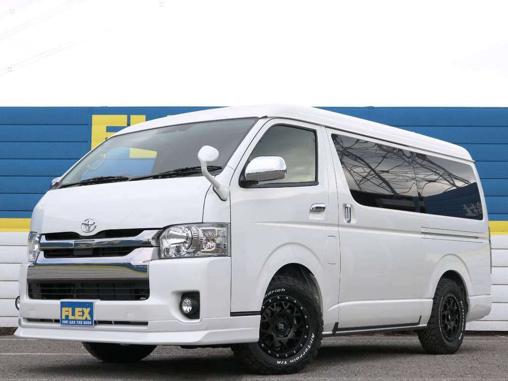 ガソリン4WD 5人乗り ハイエースワイドバン S-GL!   トヨタ ハイエースバン 2.7 スーパーGL ワイド ロング ミドルルーフ 4WD ダークプライム アレンジVer8