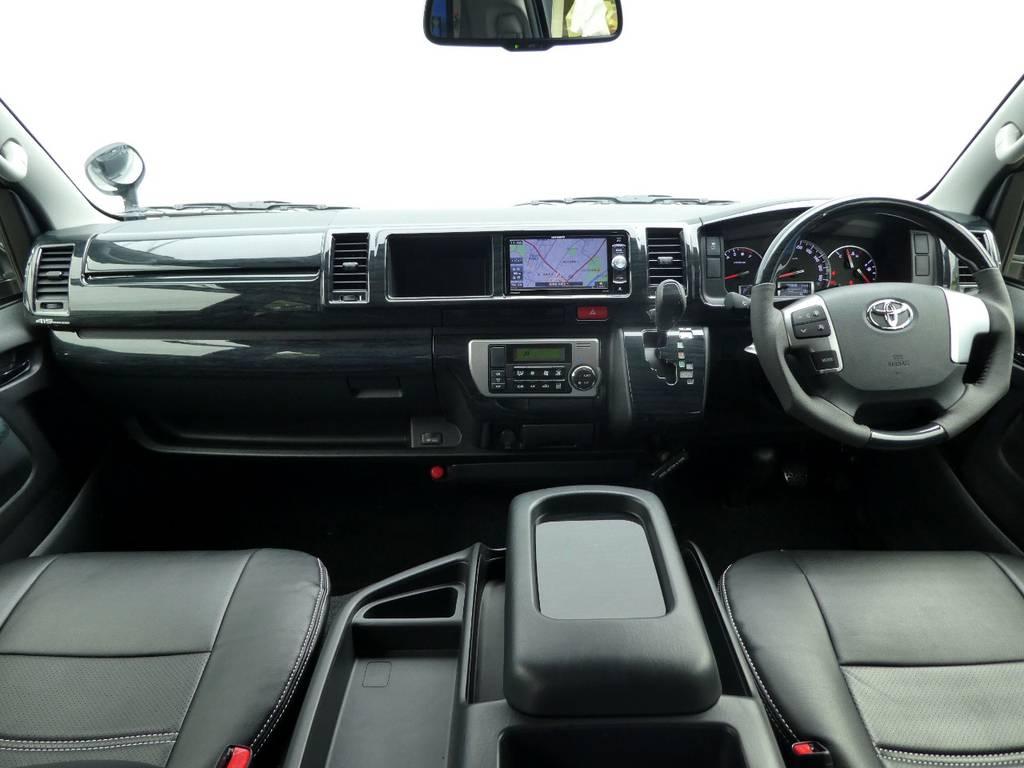黒木目インテリアが上質なキャビンを演出!!   トヨタ ハイエース 2.7 GL ロング ミドルルーフ TSS付Ver2
