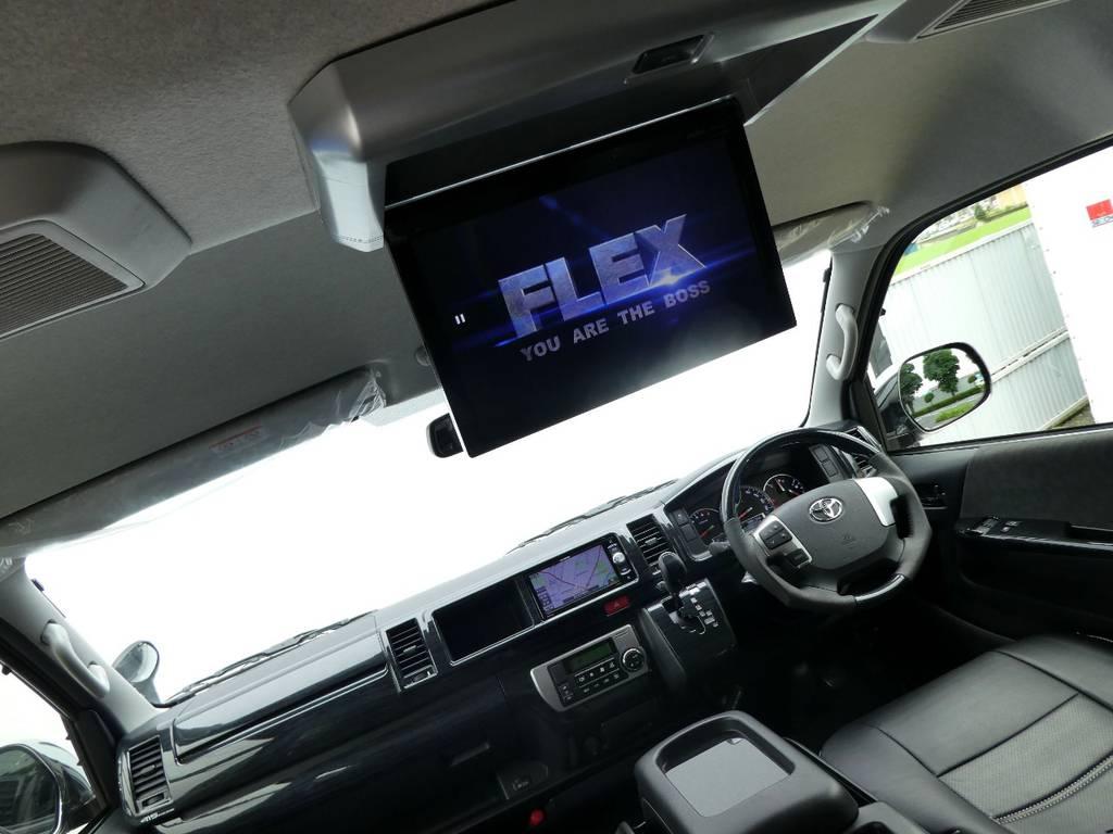フリップダウンモニター完備で後席のかたもお楽しみいただけます!!   トヨタ ハイエース 2.7 GL ロング ミドルルーフ TSS付Ver2