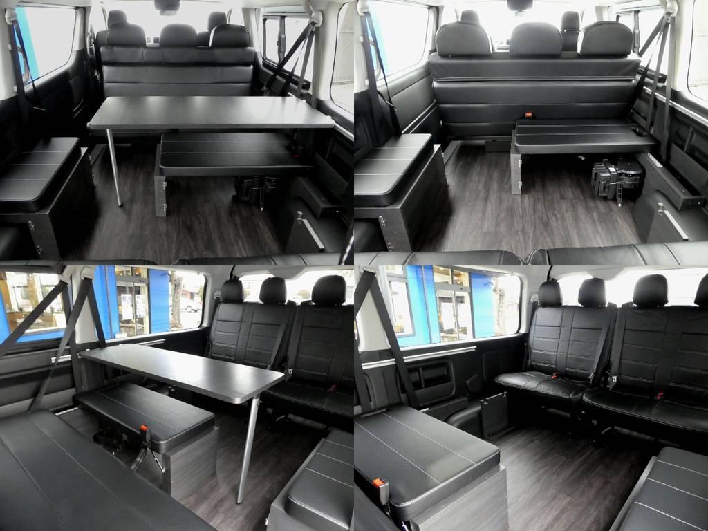 テーブルは脱着可能となります!!   トヨタ ハイエース 2.7 GL ロング ミドルルーフ TSS付Ver2