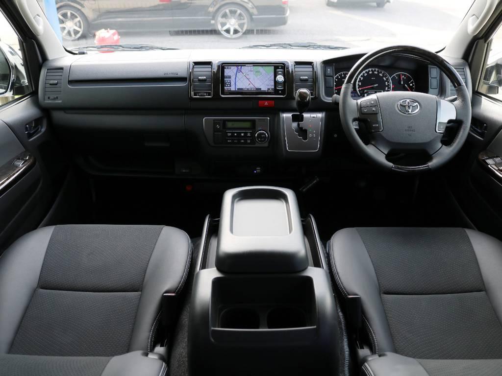 カスタム点数の非常に多い一台となります!内外装仕上がっております♪ | トヨタ ハイエースバン 2.0 スーパーGL ロング ダークP TSS付Ver4D/P