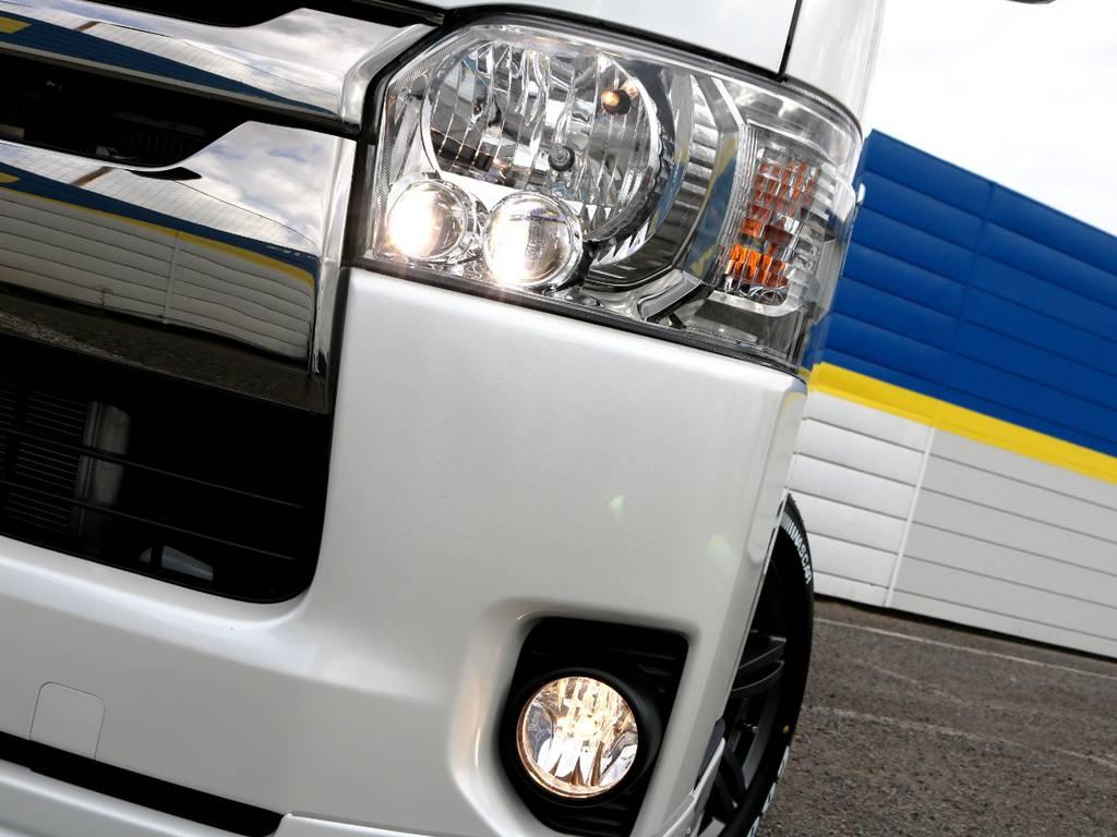 ダークプライム専用装備 クリアスモークLEDヘッドライト! | トヨタ ハイエースバン 2.0 スーパーGL ロング ダークP TSS付Ver4D/P