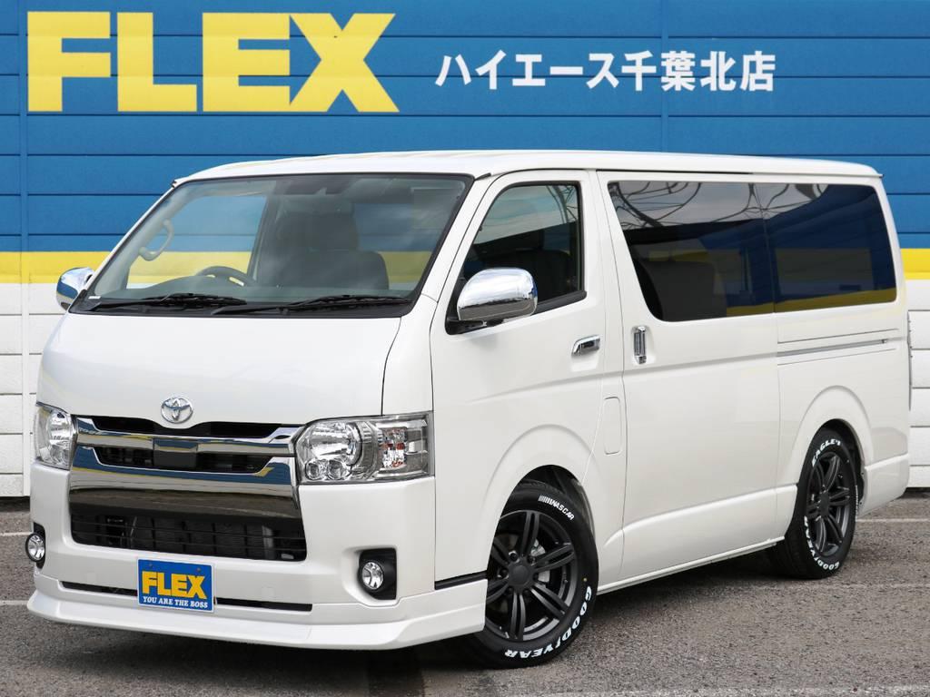 新車未登録 ハイエースバン S-GL ダークプライム ガソリン2WD 内装アレンジVer4! | トヨタ ハイエースバン 2.0 スーパーGL ロング ダークP TSS付Ver4D/P