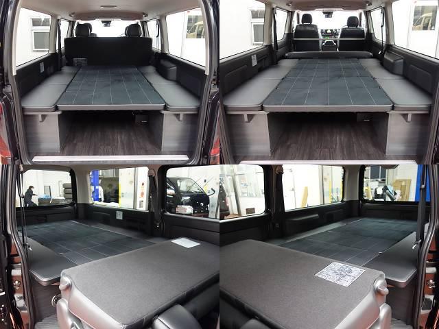 VER4ベットKIT、専用床張り施工済み!! | トヨタ ハイエースバン 2.0 スーパーGL ロング ダークP TSS付Ver4D/P