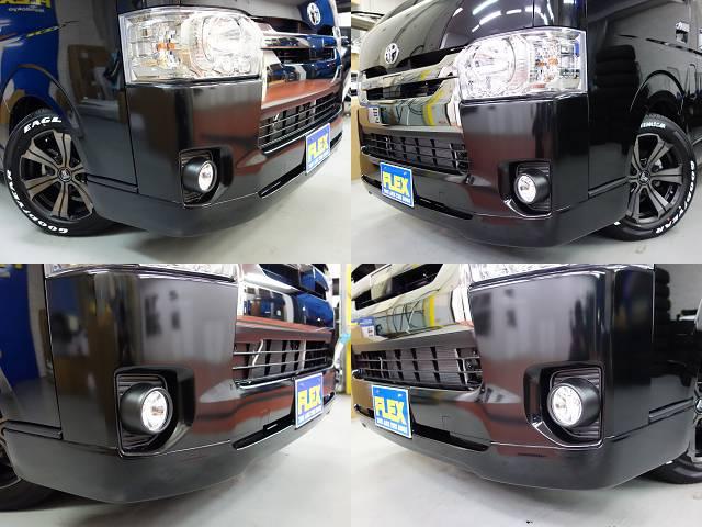 オリジナルフロントスポイラー装着済み!! | トヨタ ハイエースバン 2.0 スーパーGL ロング ダークP TSS付Ver4D/P