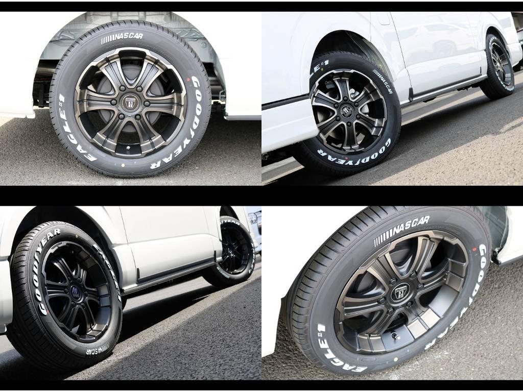 FLEXオリジナルカラーのバルベロWD17AW&ナスカータイヤ装着!車検対応品です