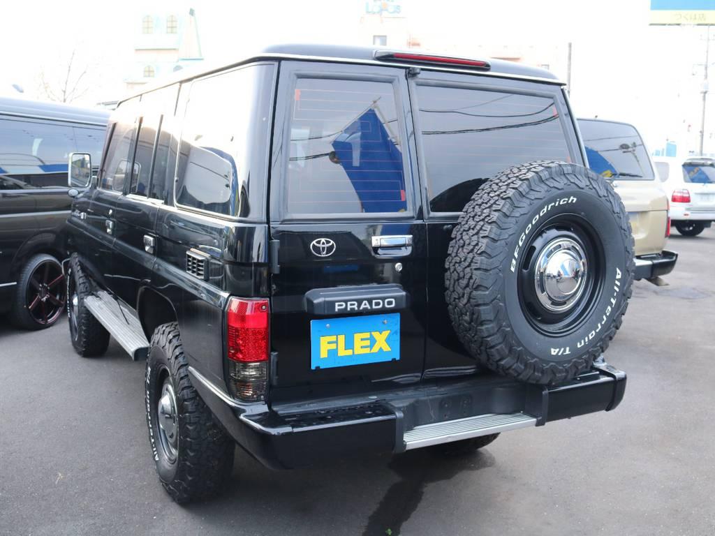 もちろん背面タイヤも合わせて交換済み!   トヨタ ランドクルーザープラド 3.0 SX ディーゼルターボ 4WD