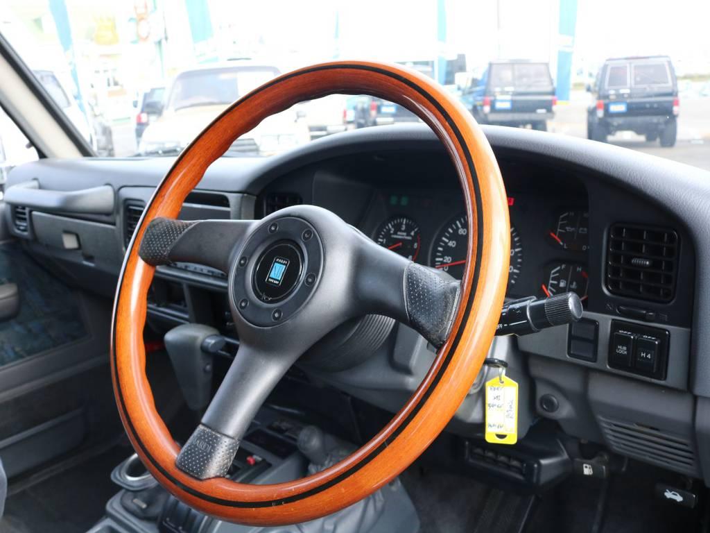 ナルディウッドハンドル交換済み!   トヨタ ランドクルーザープラド 3.0 SX ディーゼルターボ 4WD