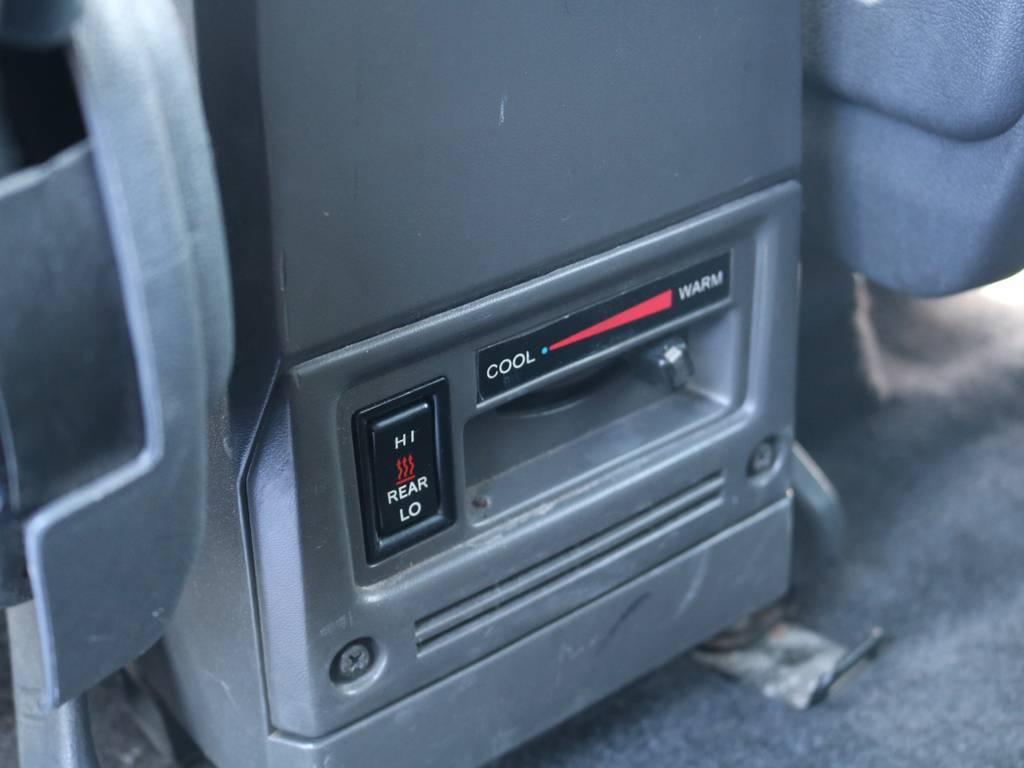 リアヒーター付きですので後部座席も快適です!   トヨタ ランドクルーザープラド 3.0 SX ディーゼルターボ 4WD