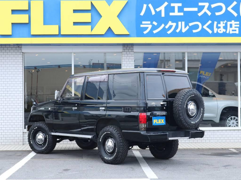 2インチUPにDEANクロスカントリーAWホイールでおしゃれにカスタムされております!   トヨタ ランドクルーザープラド 3.0 SX ディーゼルターボ 4WD