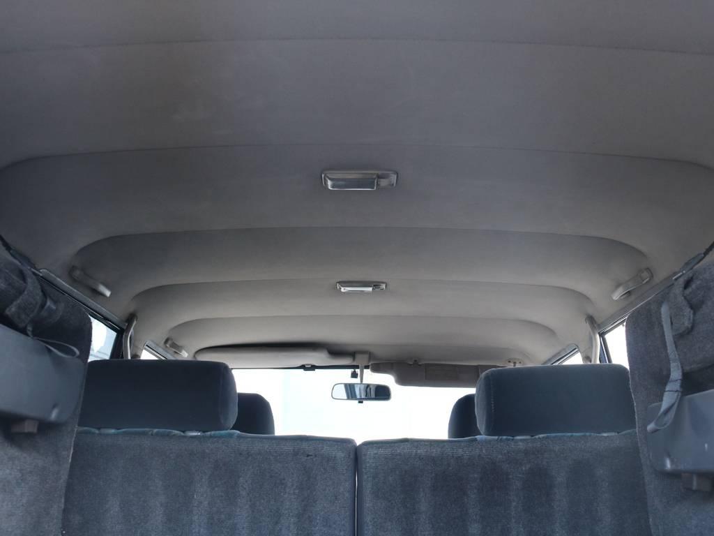 広々した天井!大きなキズやへたりも無く天張りもグッドコンディション!   トヨタ ランドクルーザープラド 3.0 SX ディーゼルターボ 4WD