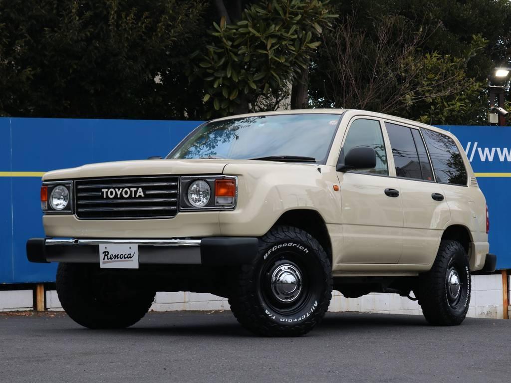 ランクル100をベースにしたRenoca106が大人気のベージュカラーで世田谷店に登場です!大至急ご連絡下さい!   トヨタ ランドクルーザー100 4.7 VXリミテッド Gセレクション 4WD
