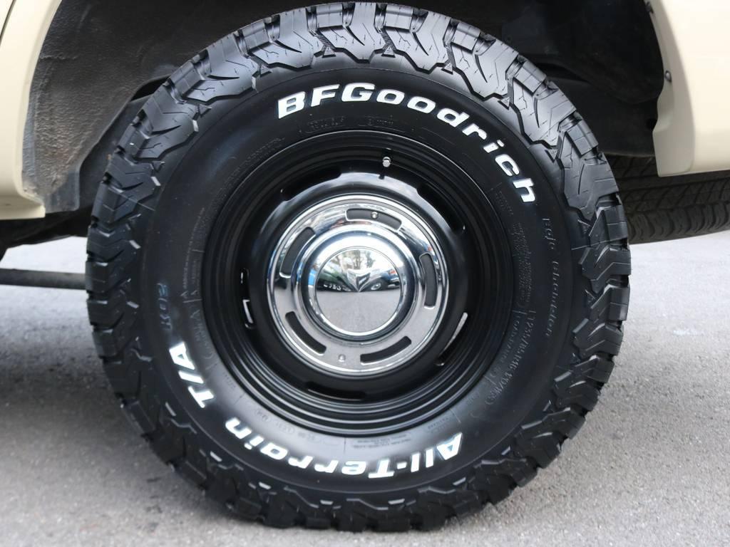新品タイヤBFGoodrichAT×新品アルミホイールDEANクロスカントリーブラック   トヨタ ランドクルーザー100 4.7 VXリミテッド Gセレクション 4WD