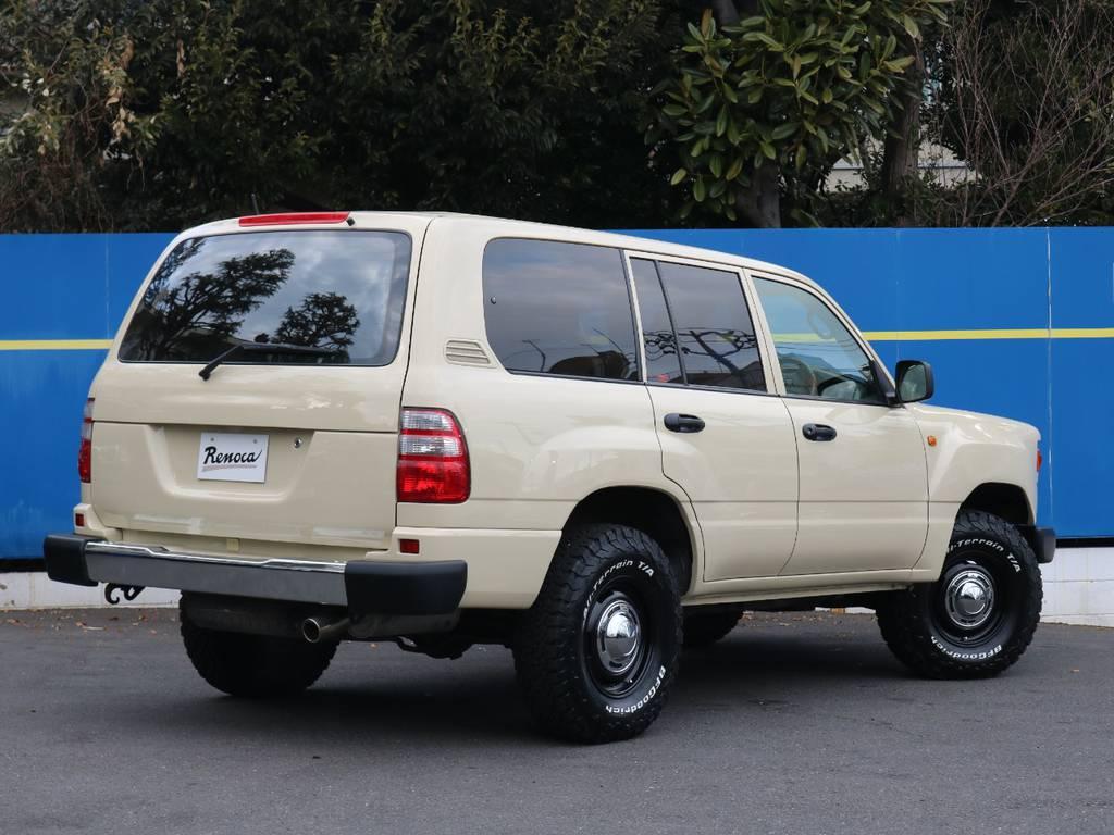 リアバンパーはスチールへ交換!リアゲートテールランプ部分を大胆にスムージング処理!FLEX流リノベーションです!   トヨタ ランドクルーザー100 4.7 VXリミテッド Gセレクション 4WD
